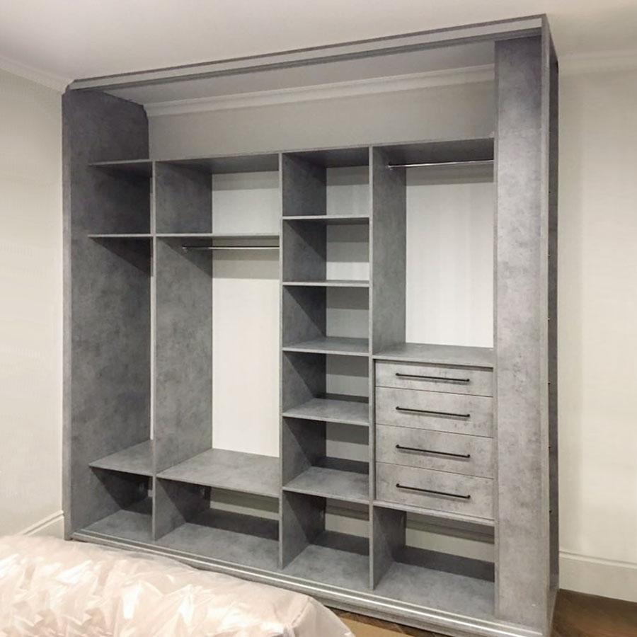 Шкаф купе в спальню внутреннее наполнение фото